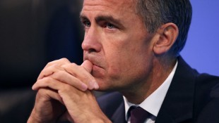 Bank of England Governor Mark Carney waits to deliver his keynote speech at the annual Trades Union Congress, in Liverpool