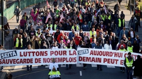 Thousands protest in France against austerity measures