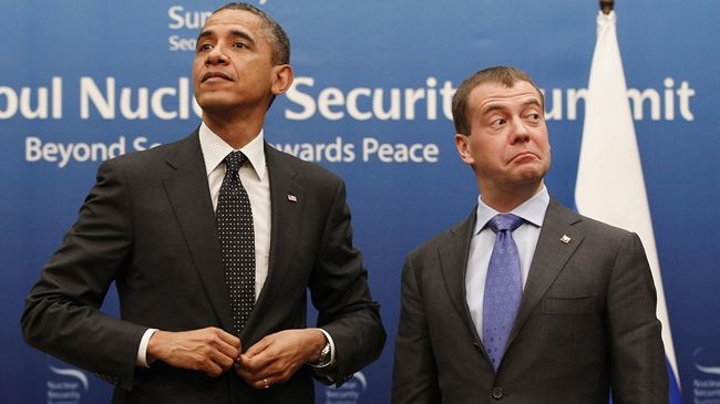 Russian PM Medvedev questions Obama's mental state