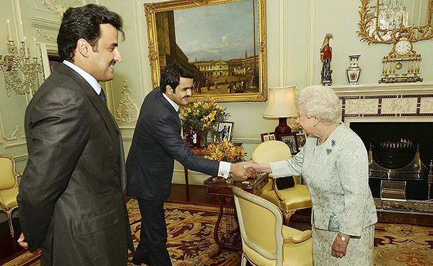 The Queen meets the Emir of Qatar as allegations rise of state funding ISIS