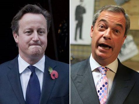 Huge surge in Ukip support after EU funding row, according to new poll