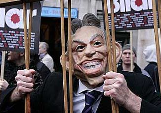 Safest place for Tony Blair to avoid plots to kill him is behind bars for his war crimes