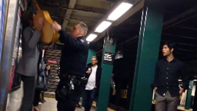NYPD assaults busker, arrests him after confirming he did nothing illegal