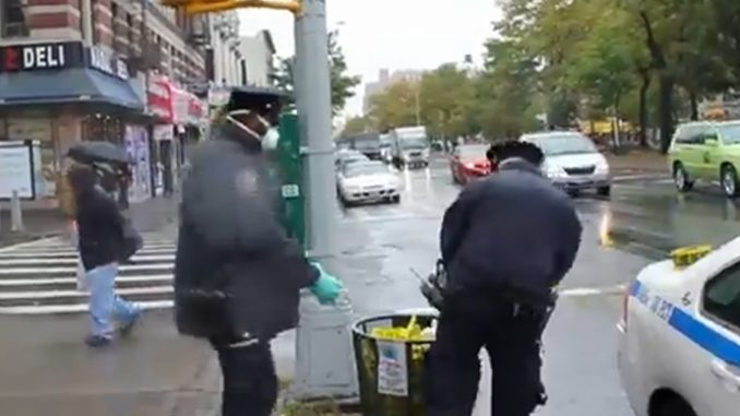 Video:NYC Cops Dump Protective Gear in Public Trash After Leaving Ebola Danger Zone