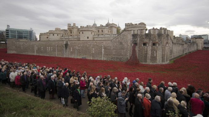 Arms firms dine at Tower of London days after 'sea of poppies' closed