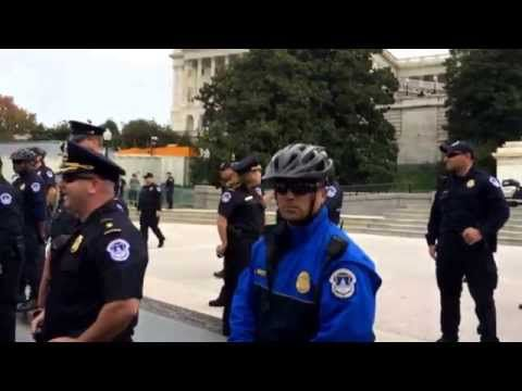 Anonymous takes down Capitol Police Barricades