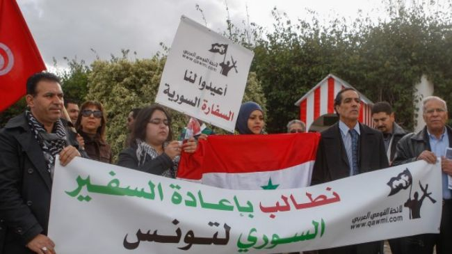 Tunisians call for resumption of ties with Syria