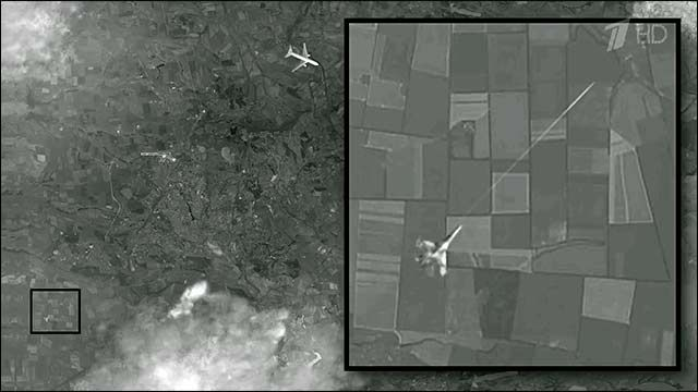 Is this the moment MH17 was shot down as it flew over Ukraine?