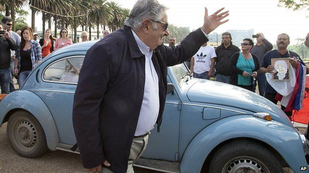 Uruguay's Jose Mujica gets $1m offer for his VW Beetle