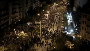 Greek protesters clash with police near US embassy