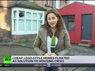 Charity builds 'Lego style houses' to tackle UK rent crisis