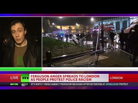 Ferguson anger spreads to London as people protest police racism
