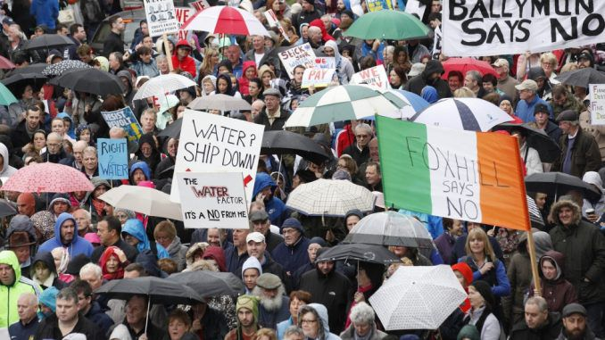 Tens of thousands take to streets of Dublin to protest against water charges
