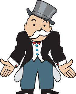 Monopoly Banker with Empty Pockets