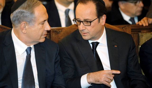Hollande did not want Netanyahu to join Paris rally