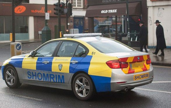 Jewish patrol cars out in force in London amid fears of copycat attack in wake of Paris kosher store siege
