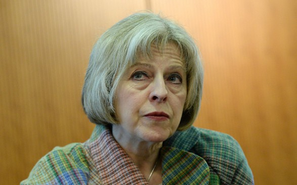 Theresa May: Don't call police to report a crime, visit a website instead