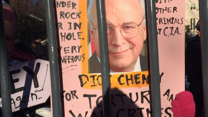 Activists protest on Dick Cheney's front porch