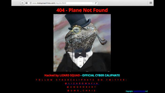 The 'Lizard Squad' Hack Malaysia Airlines Website