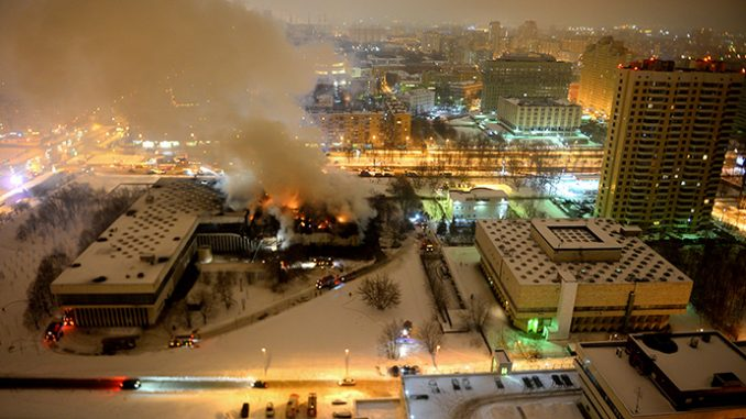 Fire devastates major Russian library, threatens rare texts and ancient documents