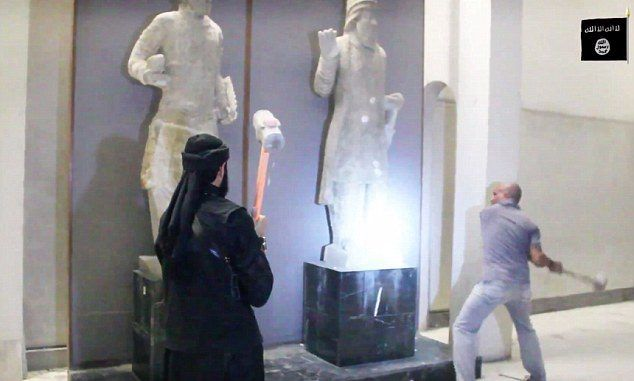 ISIS Destroy Ancient Statues And Relics In Iraq