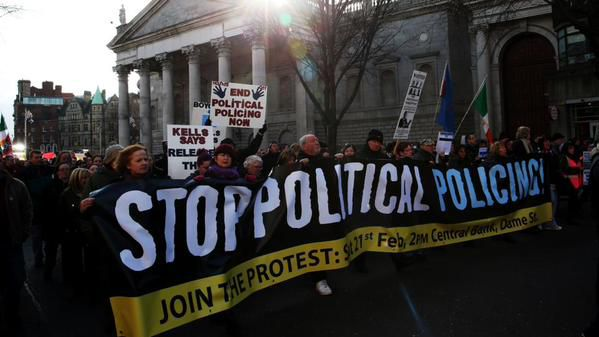 Jailed anti-water tax campaigners go on hunger strike in Ireland, thousands protest