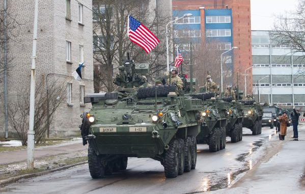 US-NATO Tanks and Armored Vehicles at Russia's Doorstep (Video)