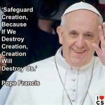 pope francis-creation