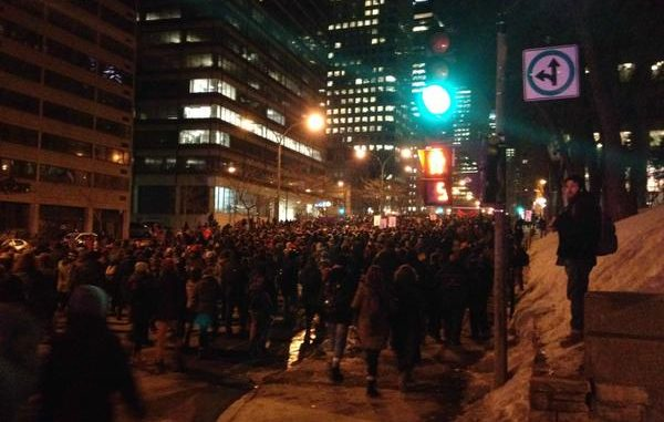 Canada: Tear Gas, Rubber Bullets As Police Disperse Students' Anti-Austerity Rally