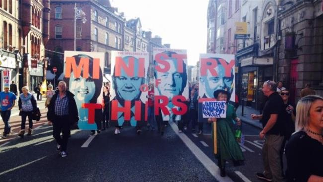 Thousands Protest Water Charges In Ireland