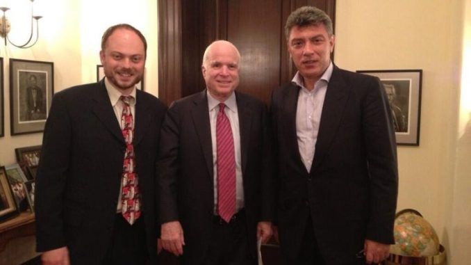 John McCain surfaces to express his 'heartfelt' condolences to his friend Boris Nemtsov
