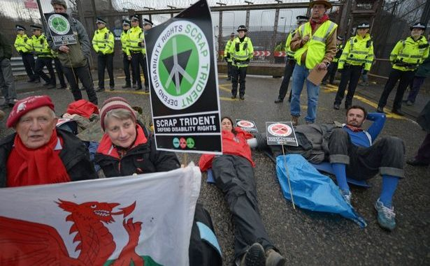Dozens Arrested As Anti-Nuclear Protesters Demand End To Trident Sub Programe