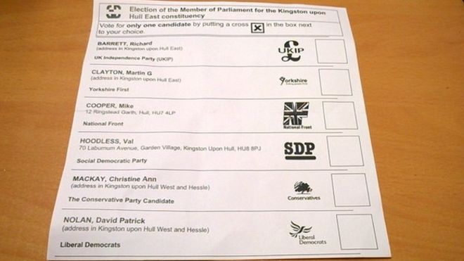 Labour And Green Candidates Left Off Postal Ballot Papers