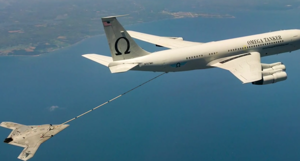 Navy Drone Refueled Mid-Air