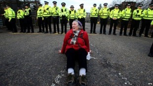 anti nuclear protester