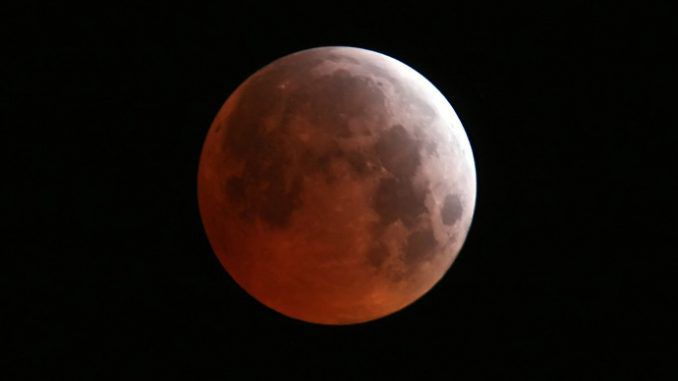 Blood Moon With Total Lunar Eclipse Saturday