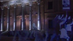First Hologram Protest Ever Held In Spain Against Gag Law (Video)