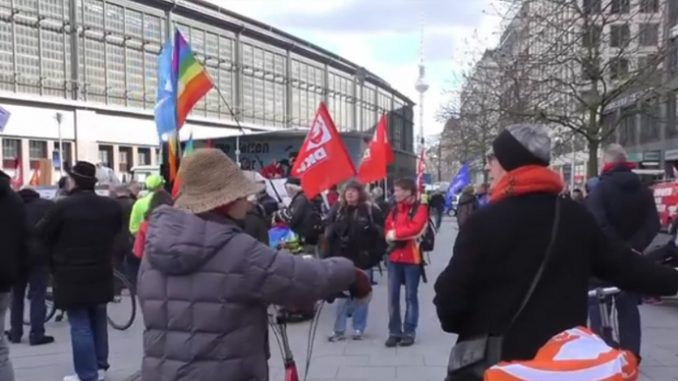 Protests Against World Militarism & NATO Warmongering In Geremany