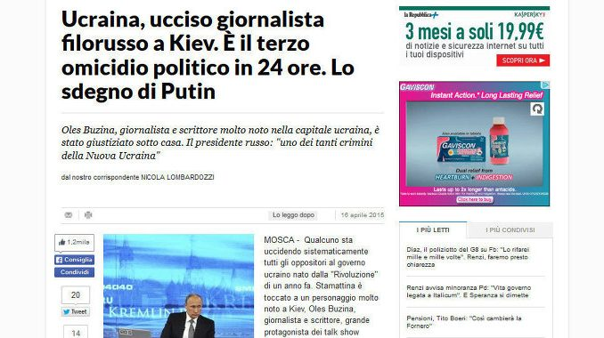 La Repubblica newspaper