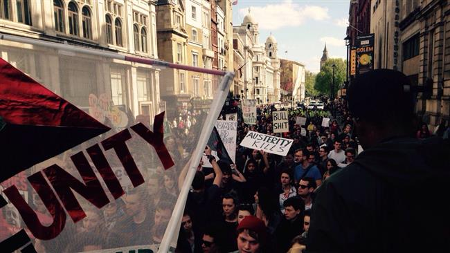 Anti-Tory Rally Has Started In London!