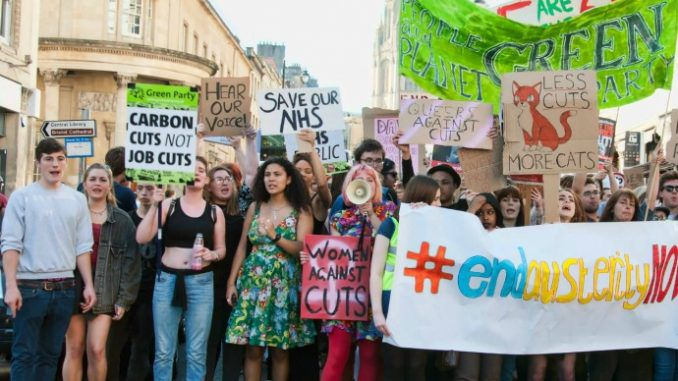 Thousands Join Teen Led Anti-Austerity Protest In Bristol
