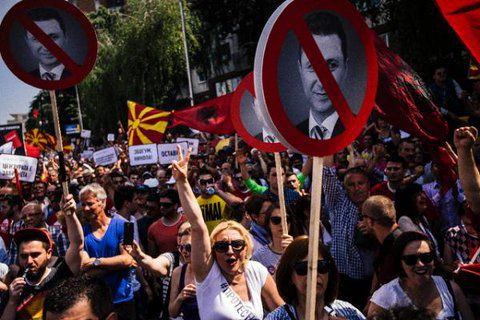 Thousands Rally In Macedonia As Political Unrest Unfolds