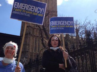 National Protest By Health Workers Against NHS Cuts And Privatization