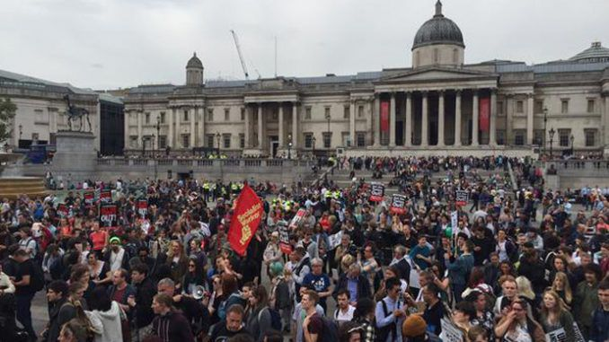 London: Thousands Protest Against Tory Cuts