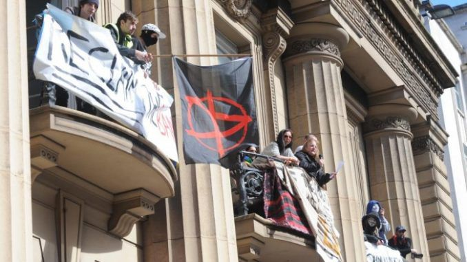 Police In Liverpool Accused Of Trying To Starve Activists Out Of Occupied Bank