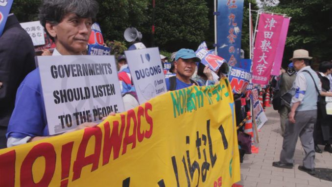 Thousands Protest New US Base Plan In Japan