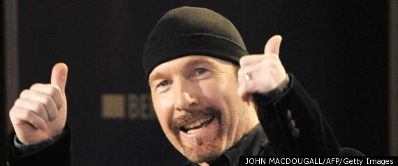 u2 s the edge falls off it during live performance news punch