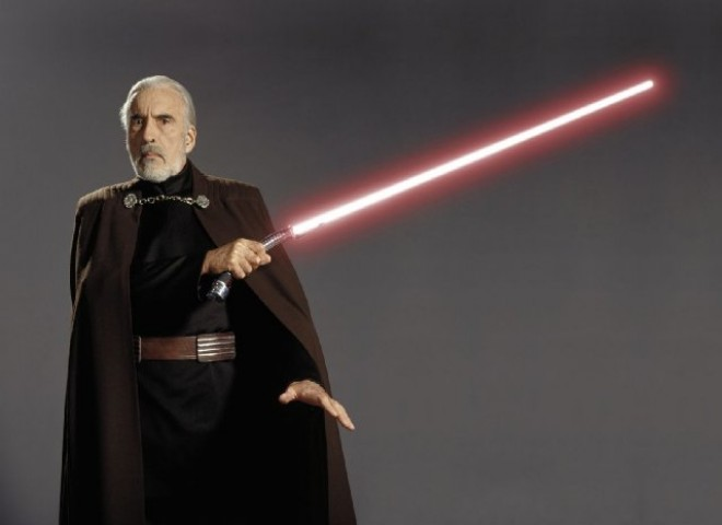 Christopher Lee as Count Dooku- Star Wars