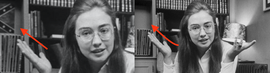 Hillary Clinton With A Confederate Flag