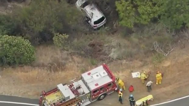 woman's car fell off a cliff